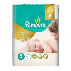 Pampers - Pack 30 Couches Premium Care taille 5 sur Couches Poupon