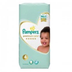 Pampers - Pack 34 Couches New Baby Premium Care taille 4 sur Couches Poupon