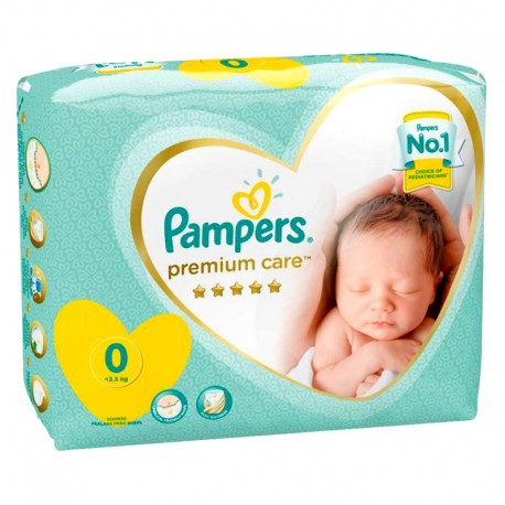 Pampers - Pack 30 Couches New Baby Premium Care taille 0 sur Couches Poupon