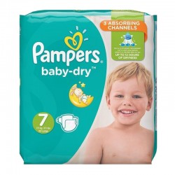 Pampers - Pack 30 Couches Baby Dry taille 7 sur Couches Poupon