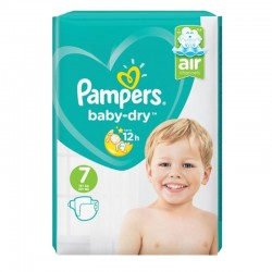 Pampers - Pack 72 Couches Baby Dry taille 7 sur Couches Poupon