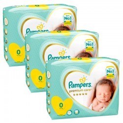 Pampers - Giga Pack 90 Couches New Baby Premium Care taille 0 sur Couches Poupon