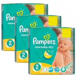 Giga Pack 129 couches Pampers New Baby Dry sur Couches Poupon
