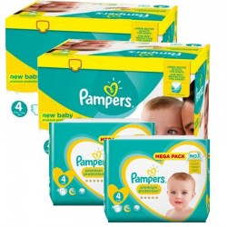 Pack Jumeaux 574 couches Pampers New Baby Premium Protection