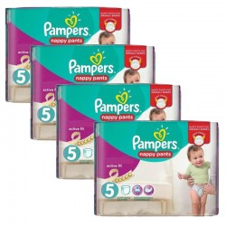 Giga Pack 160 couches Pampers Active Fit Pants sur Couches Poupon