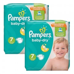 Pampers - Giga Pack 60 Couches Baby Dry taille 7 sur Couches Poupon