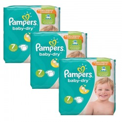 Pampers - Maxi Pack 120 Couches Baby Dry taille 7 sur Couches Poupon