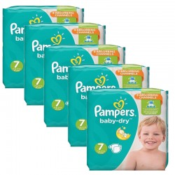 Pampers - Mega Pack 210 Couches Baby Dry taille 7 sur Couches Poupon