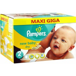 Pampers - Giga pack 258 Couches New Baby Dry