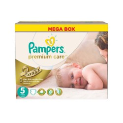 Pampers - Maxi Pack 240 Couches Premium Care taille 5 sur Couches Poupon