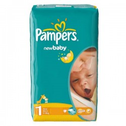 New Baby Dry - 43 Couches de Pampers taille 1