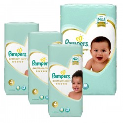 Pampers - Maxi mega pack 408 Couches New Baby Premium Care taille 4 sur Couches Poupon