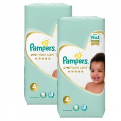 Pampers - Pack jumeaux 510 Couches New Baby Premium Care taille 4 sur Couches Poupon