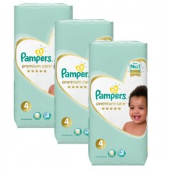 Pampers - Pack 68 Couches New Baby Premium Care taille 4 sur Couches Poupon
