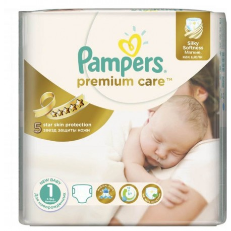 Pampers - Pack 88 Couches Premium Care taille 1 sur Couches Poupon