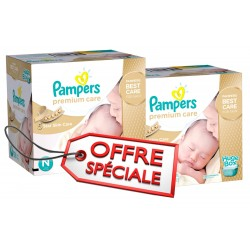 Pampers - Giga pack 264 Couches Premium Care taille 1 sur Couches Poupon