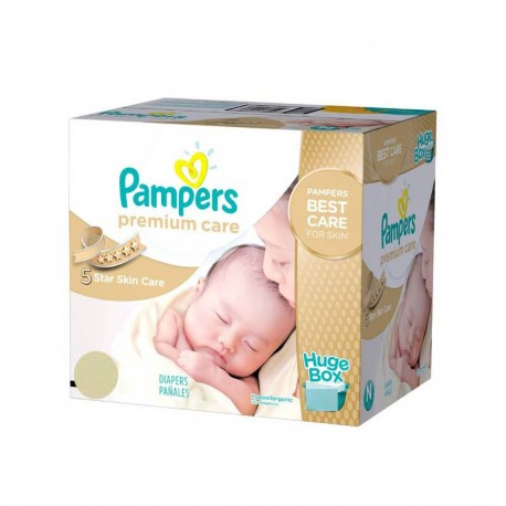 Pampers - Maxi giga pack 352 Couches Premium Care taille 1 sur Couches Poupon