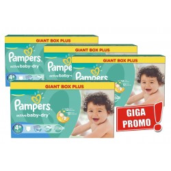Pampers - Pack jumeaux 800 Couches Active Baby Dry taille 4+ sur Couches Poupon