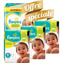 Pampers - Pack jumeaux 546 Couches New Baby Premium Protection taille 4+ sur Couches Poupon