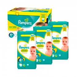 Pampers - Pack jumeaux 567 Couches New Baby Premium Protection taille 4+ sur Couches Poupon