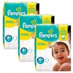Pampers - Pack jumeaux 588 Couches New Baby Premium Protection taille 4+ sur Couches Poupon