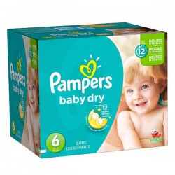 Pampers - Maxi mega pack 468 Couches Baby Dry taille 6 sur Couches Poupon