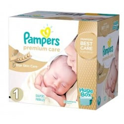 Pampers - Pack jumeaux 704 Couches Premium Care taille 1