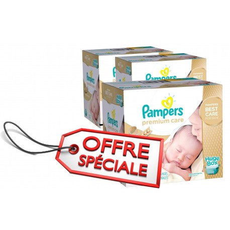 Pampers - Pack jumeaux 880 Couches Premium Care taille 1 sur Couches Poupon