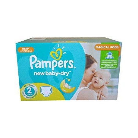 Pampers - Maxi giga pack 344 Couches New Baby Dry sur Couches Poupon