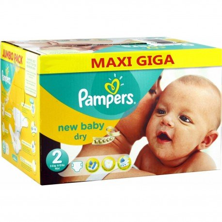 Pampers - Pack jumeaux 516 Couches New Baby Dry sur Couches Poupon