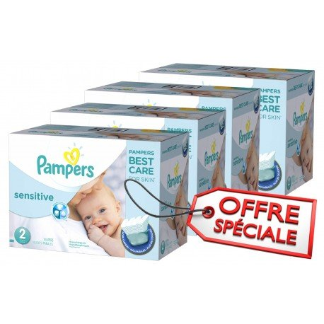 Pampers - Maxi mega pack 480 Couches New Baby Sensitive sur Couches Poupon