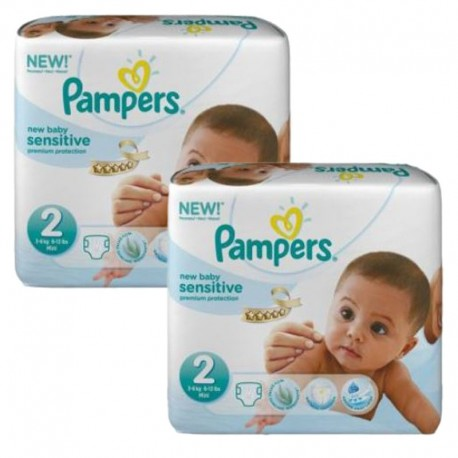 Pampers - Pack jumeaux 660 Couches New Baby Sensitive sur Couches Poupon