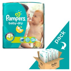 Pampers - Giga pack 246 Couches Baby Dry taille 4+ sur Couches Poupon