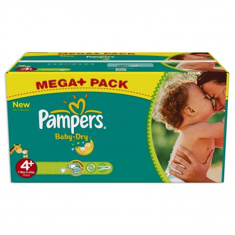 Pampers - Giga pack 287 Couches Baby Dry taille 4+ sur Couches Poupon