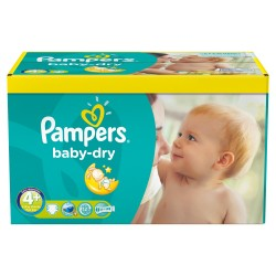 Pampers - Maxi giga pack 369 Couches Baby Dry taille 4+ sur Couches Poupon