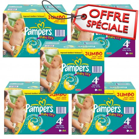 Pampers - Maxi mega pack 410 Couches Baby Dry taille 4+ sur Couches Poupon