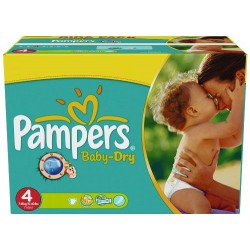 Pampers - Mega pack 176 Couches Baby Dry taille 4