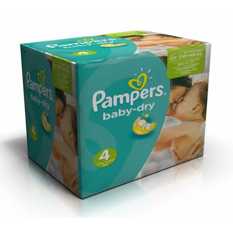 Pampers - Maxi giga pack 308 Couches Baby Dry taille 4 sur Couches Poupon
