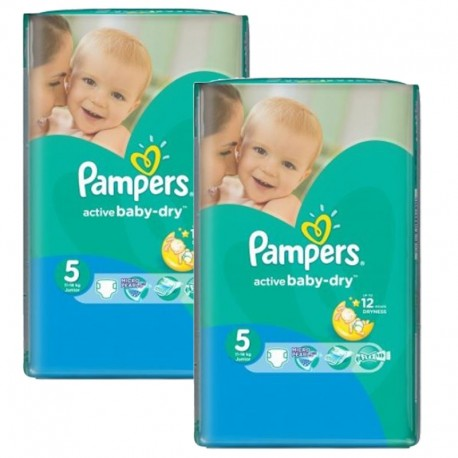 Pampers - Maxi mega pack 406 Couches Active Baby Dry sur Couches Poupon