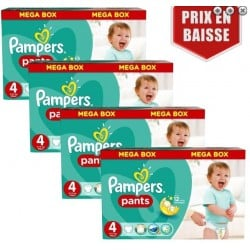 Pampers - Giga pack 261 Couches Baby Dry Pants taille 4 sur Couches Poupon