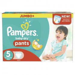 Pampers - Mega pack 182 Couches Baby Dry Pants taille 5 sur Couches Poupon