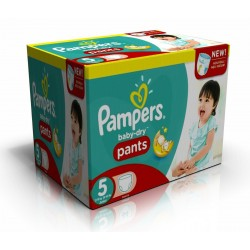 Pampers - Maxi giga pack 312 Couches Baby Dry Pants taille 5 sur Couches Poupon