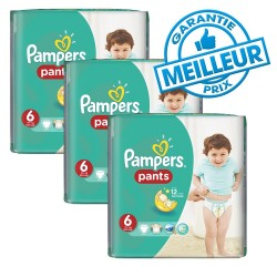 Pampers - Pack 69 Couches Baby Dry Pants taille 6 sur Couches Poupon