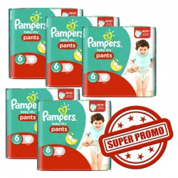 Pampers - Mega pack 115 Couches Baby Dry Pants taille 6 sur Couches Poupon