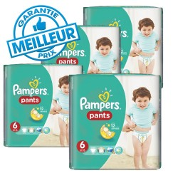Pampers - Maxi giga pack 322 Couches Baby Dry Pants taille 6 sur Couches Poupon