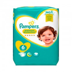 Pampers - Pack 76 Couches New Baby Premium Protection taille 6 sur Couches Poupon