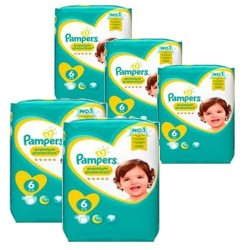 Pampers - Pack jumeaux 532 Couches New Baby Premium Protection taille 6 sur Couches Poupon
