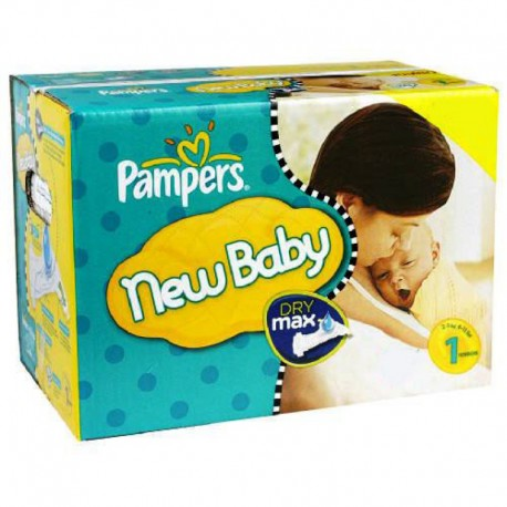 Pampers - Pack jumeaux 864 Couches New Baby Premium Protection taille 1 sur Couches Poupon