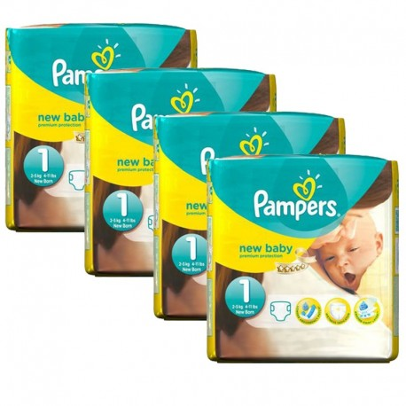 Pampers - Pack jumeaux 1152 Couches New Baby Premium Protection taille 1 sur Couches Poupon