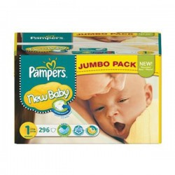 Pampers - Maxi mega pack 480 Couches New Baby Premium Protection taille 1